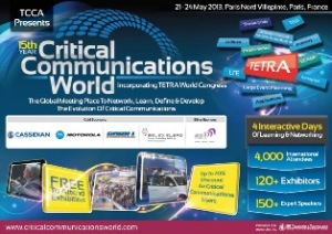 Download the first Critical Communications World 2013 brochure